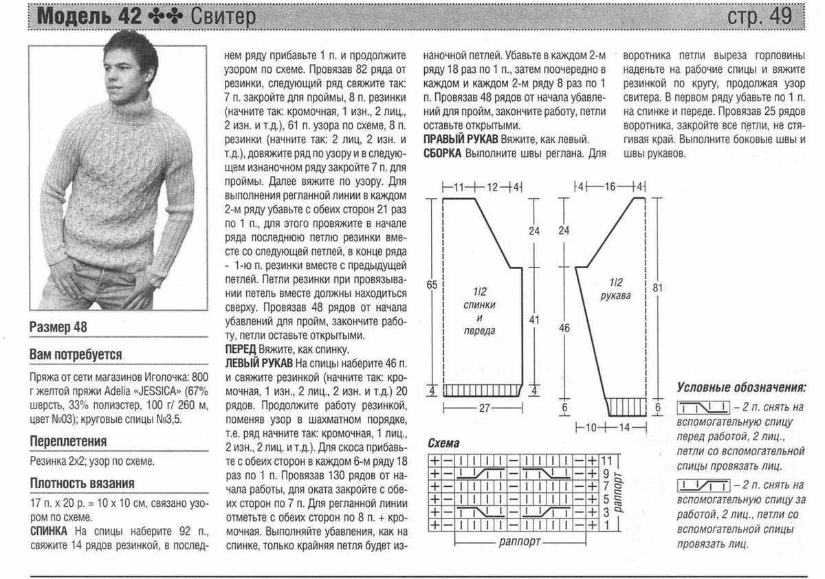 рисунки для мужских свитеров спицами со схемами и описанием пусть всегда тобой