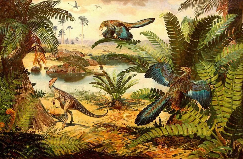 картинки с древними животными и растениями минимальный