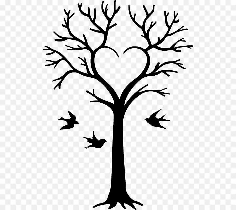 Деревья картинки черно-белые