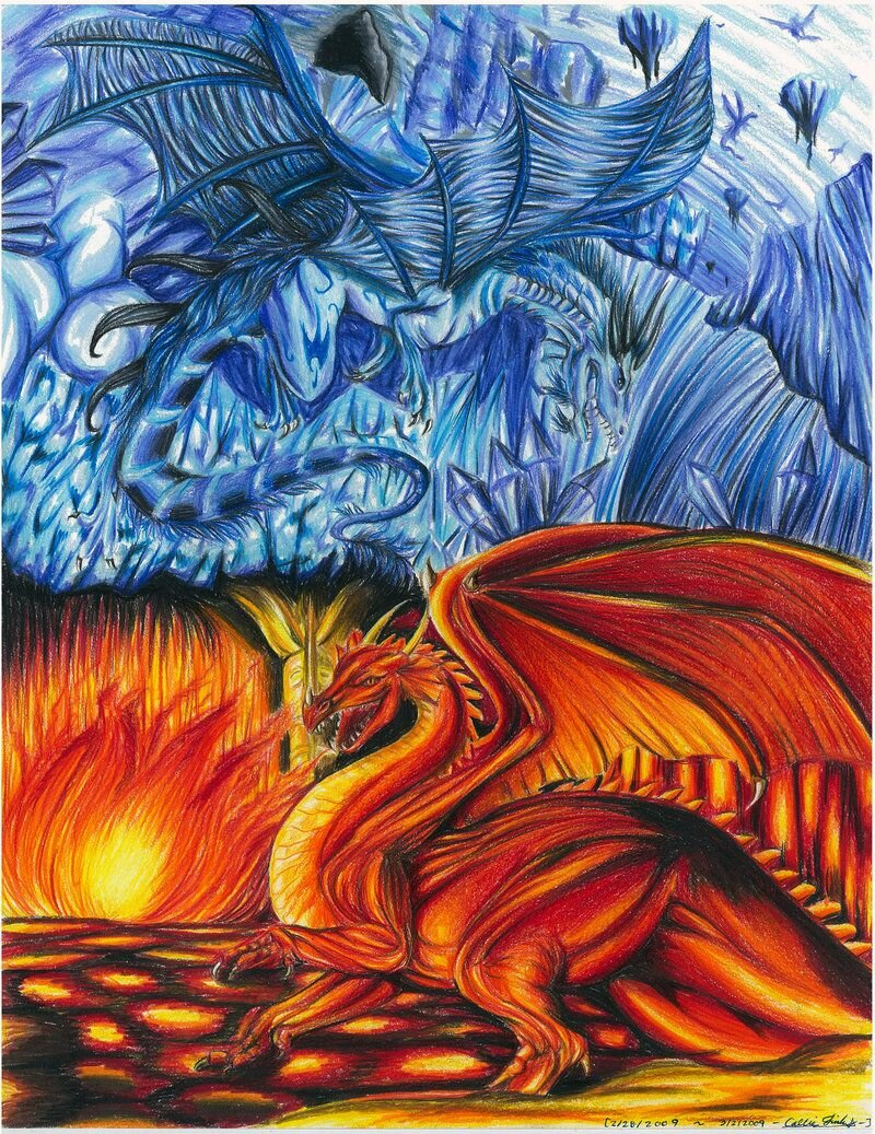Картинки дракона льда и пламени