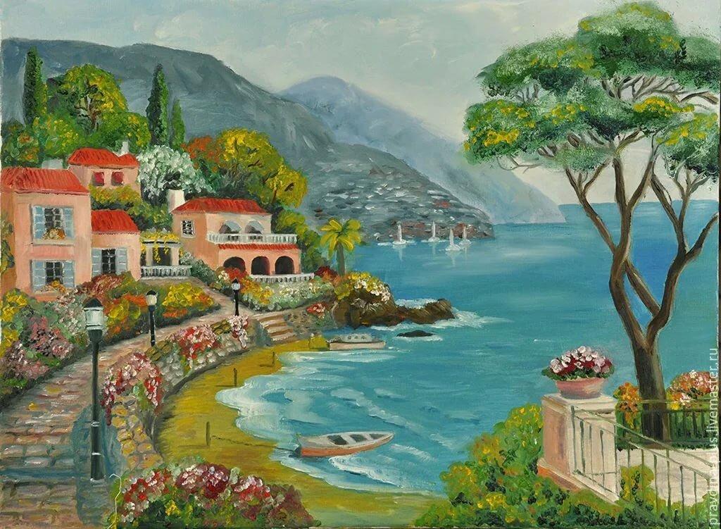Постер картины итальянские пейзажи покрыт природными