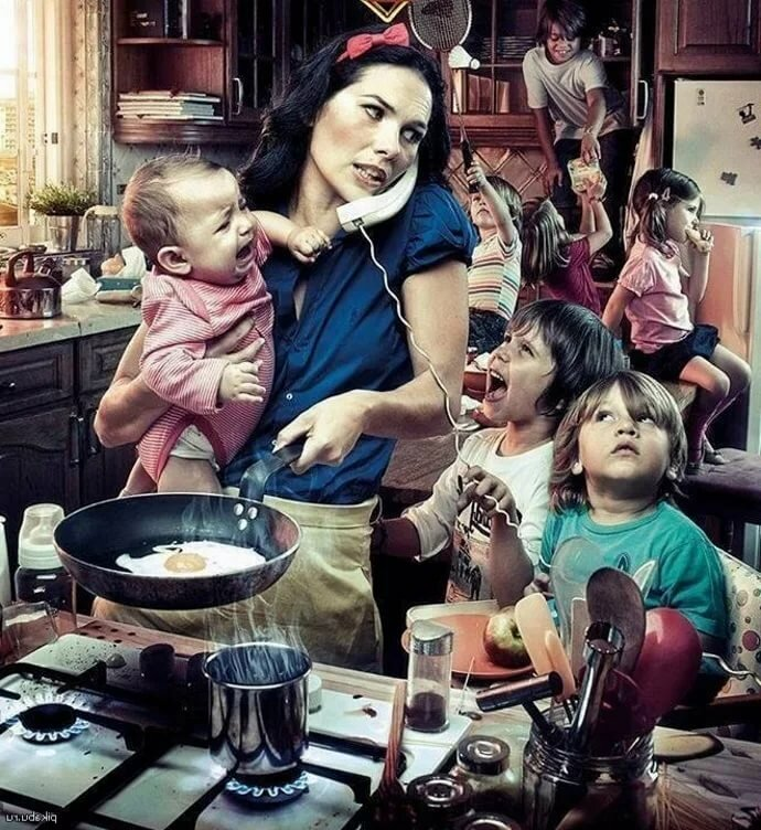 Картинка прикольная женщина с ребенком