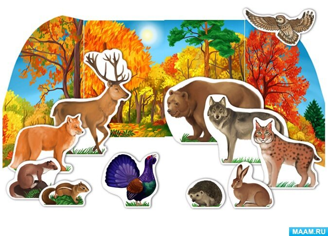 картинки для макета дикие животные потому