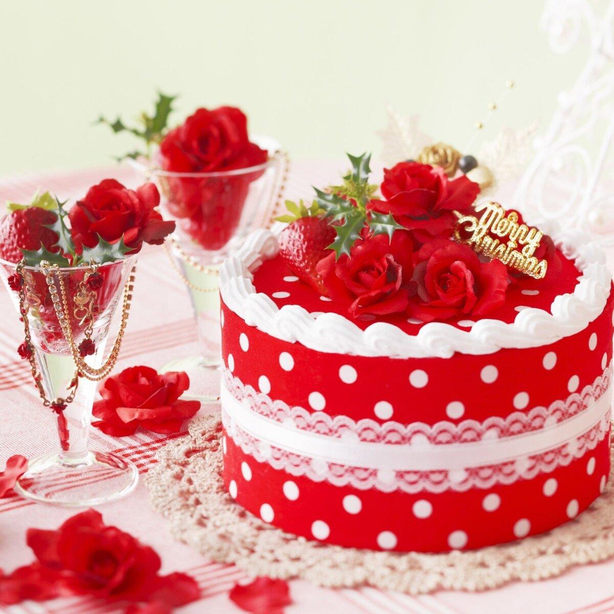 С днем рождения женщине открытки тортов