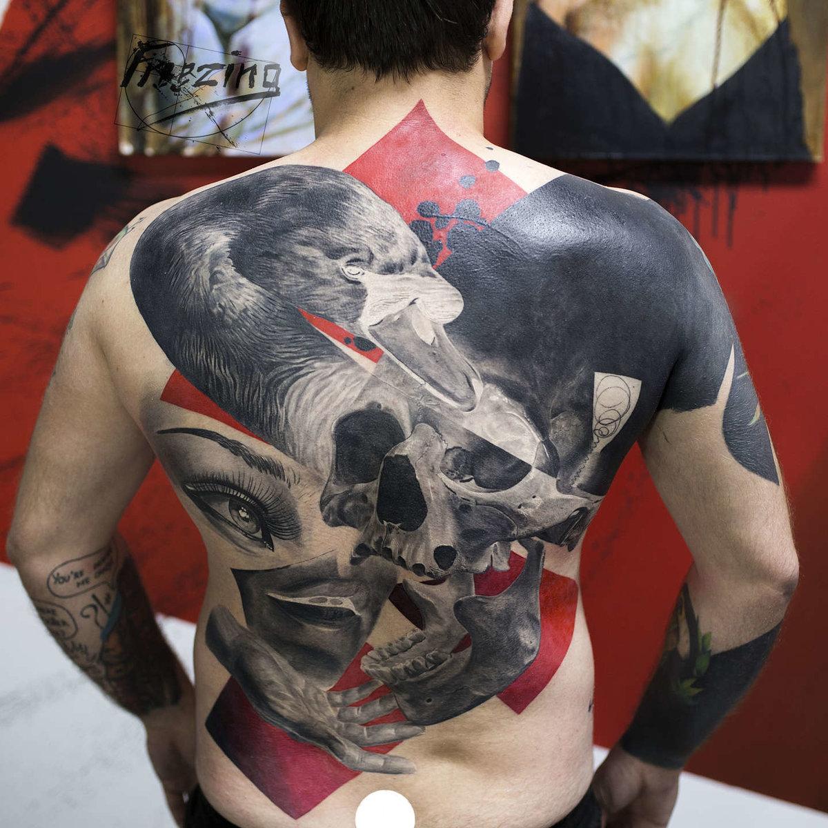 приготовления больших тату на спине трэш мужские фото бизнес изготовлению светящихся