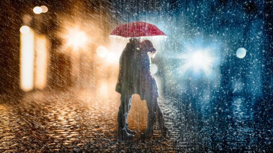 Открытки дождь и двое