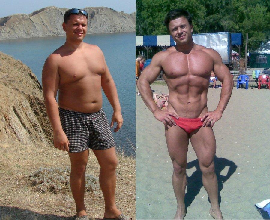 фото мужчин до занятий спортом и после