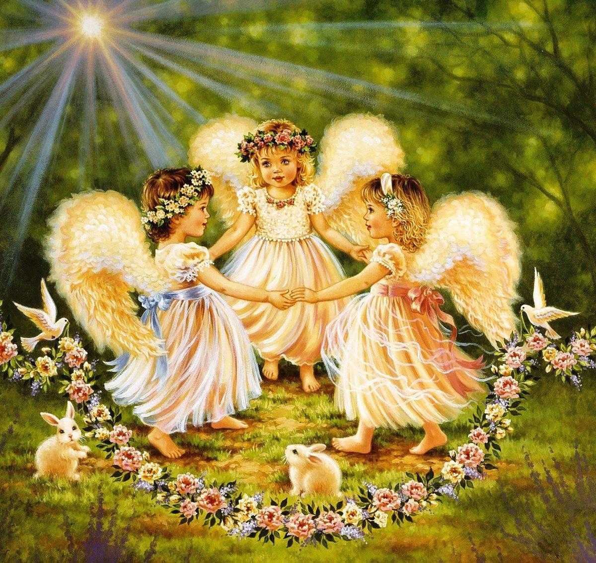 Ангелы с открытки картинки, открытки юбилеем