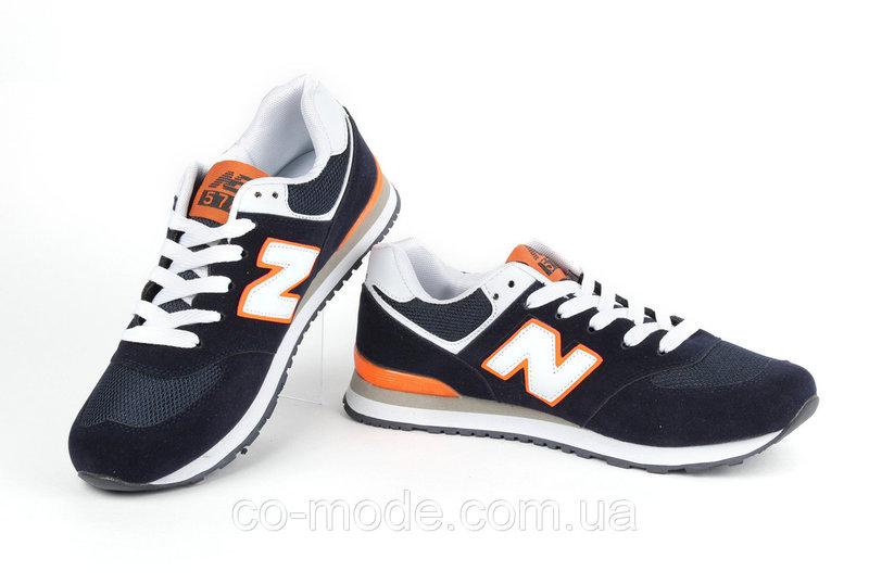 Кроссовки мужские New Balance 574, синие с оранжевым (р. 43), цена ... Кроссовки мужские New Balance 574, синие с оранжевым (р. 43) - Стильная