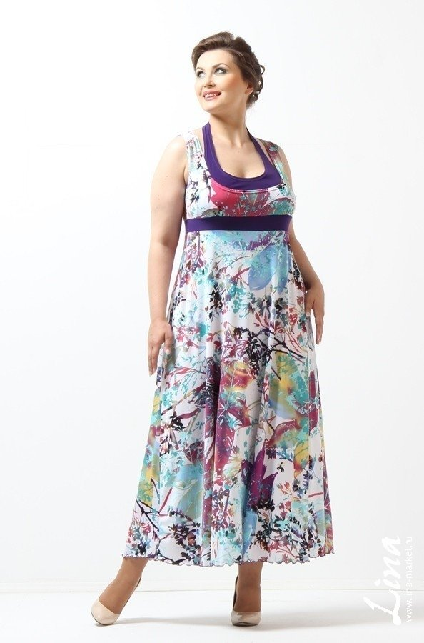 74d0ed3d3f3 Lina – женская одежда Женская одежда больших размеров Lina - купить Сарафан  Американка ... Lina – женская одежда