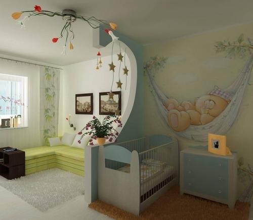 интерьер комнаты с нишей как детская наверх