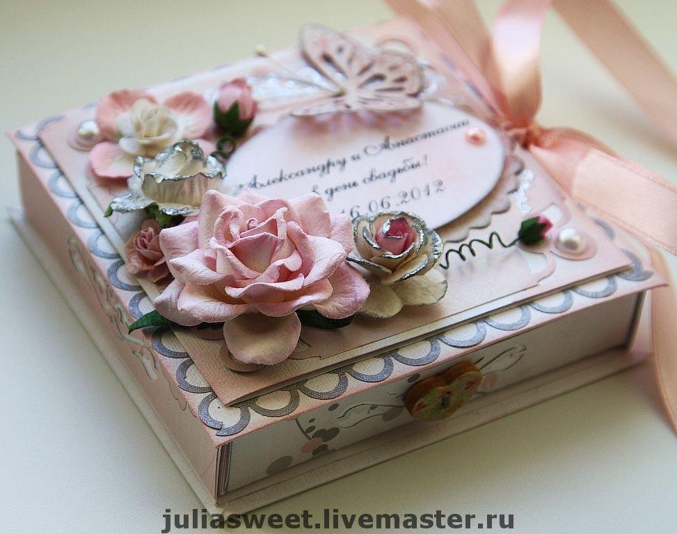 Свадебная открытка коробочка своими руками