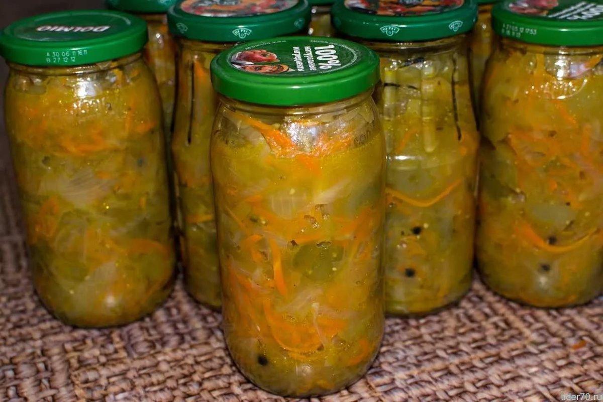 салат на зиму из зеленых помидор с капустой