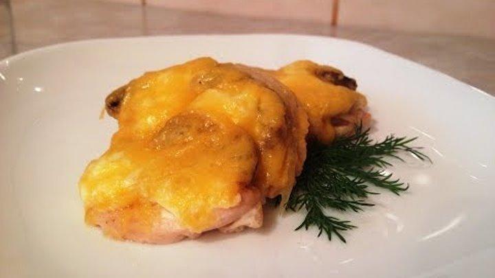 Приготовить куриные отбивные с грибами