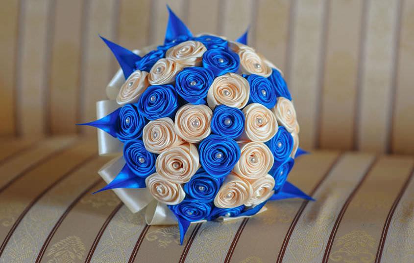 Вербных почек, свадебный букет цветы из лент мастер класс