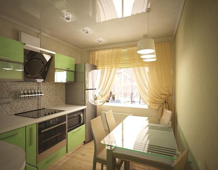 Длинная узкая кухня - планировка (41 фото): как подобрать ин.