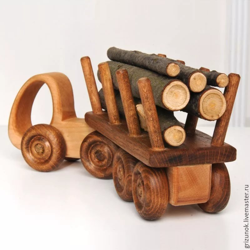 """Buy Wood machine """"the Truck"""" - wood machine, wooden toys, to"""