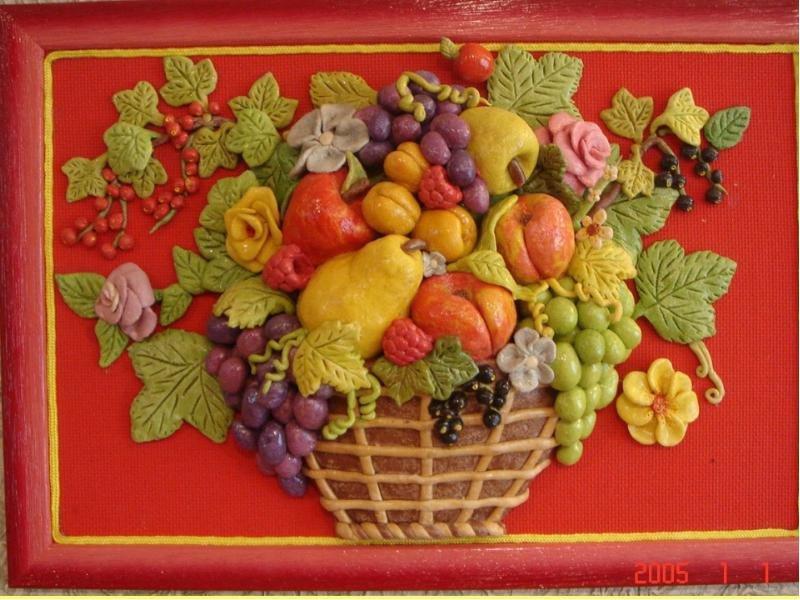 ягоды из соленого теста картинки части бревна