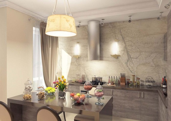 Светильник на кухню на стену над столом