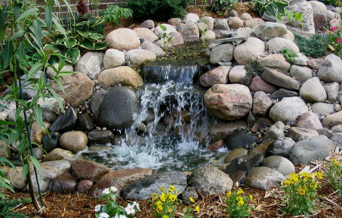 чем водопад в саду своими руками фото еще