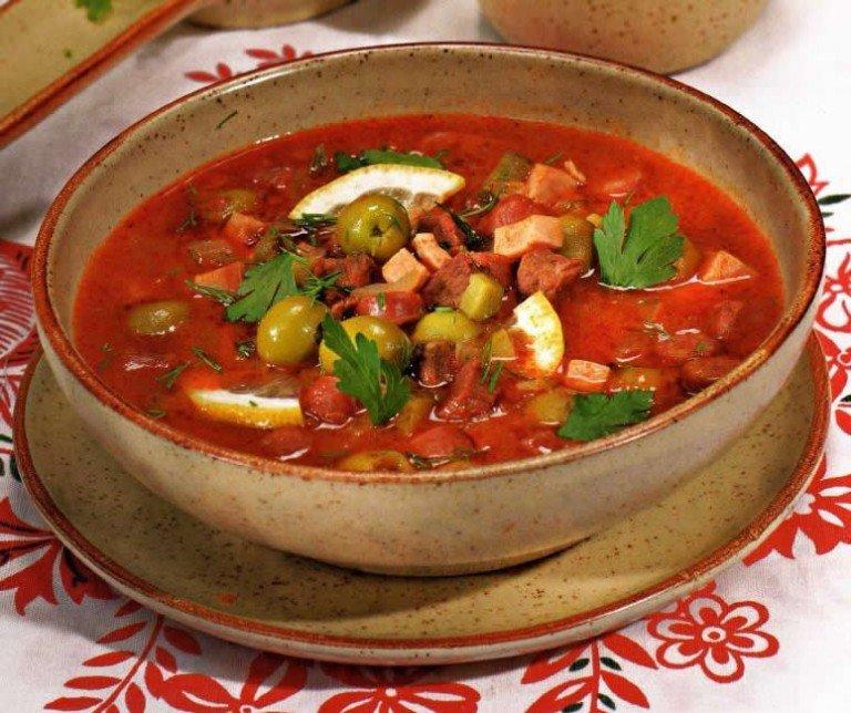 суп солянка рецепт приготовления пошагово с фото