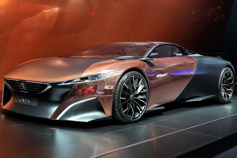 Концепт-кар Peugeot Onyx из углеродного волокна