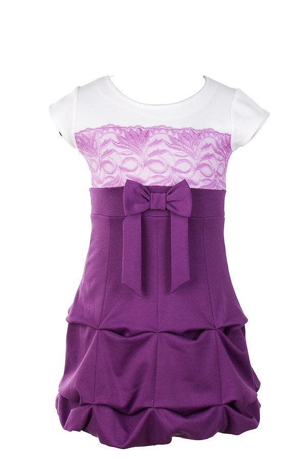 Платье трикотажное для девочек нарядное