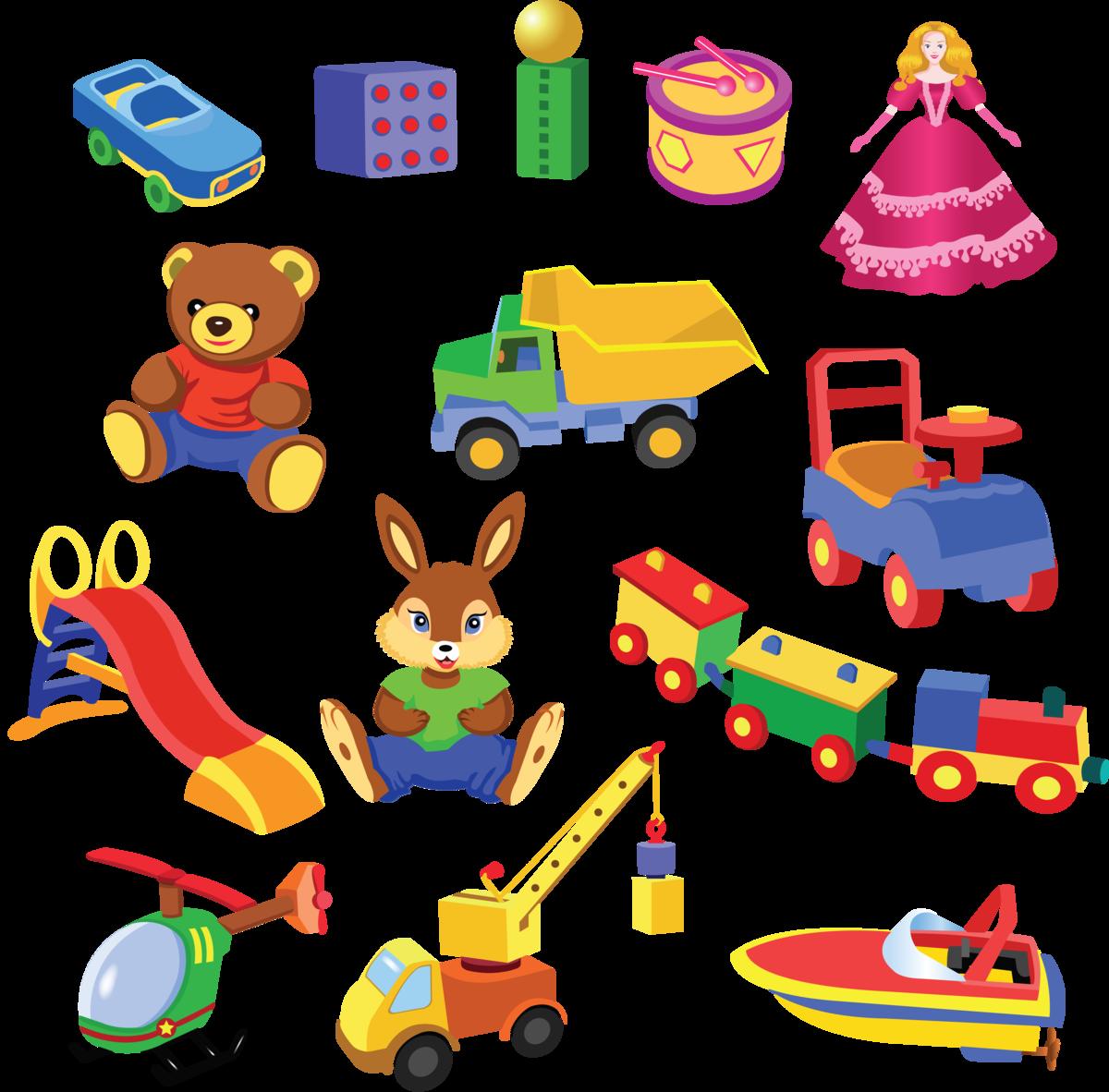 Днем, картинка игрушки для детского сада