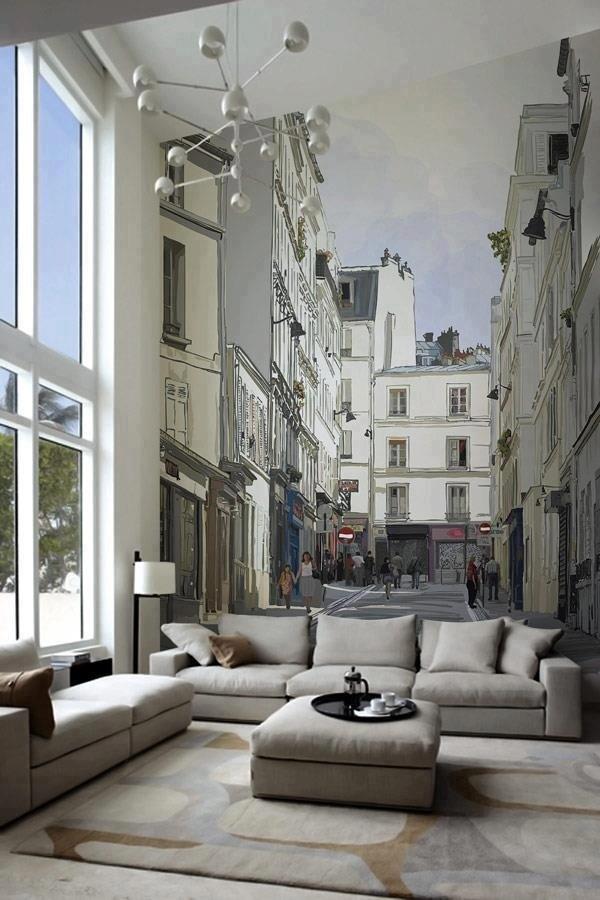 Еще один фаворит – фотообои с изображением города. Такие обои отлично подойдут для маленьких комнат, они обманывают наш взгляд и зрительно расширяют пространство.