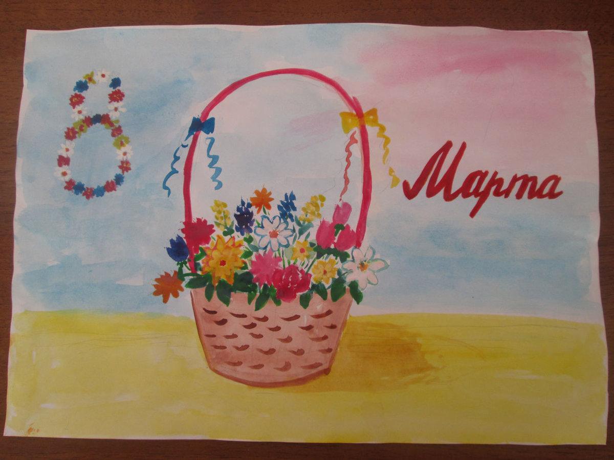 Открытка рисунок для мамы на конкурс