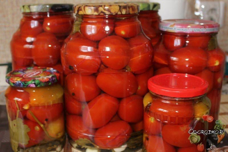 Рецепт самых простых помидор на зиму