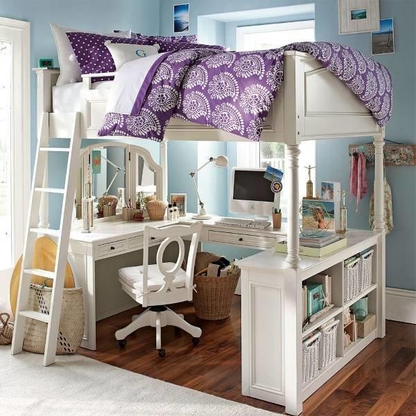 Кровать чердак для детей, подростков и взрослых, а также модели с диваном, рабочей зоной или дополнительной кроватью внизу.
