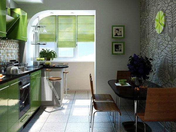 Кухня, совмещенная с балконом - лучшее решение по расширению.