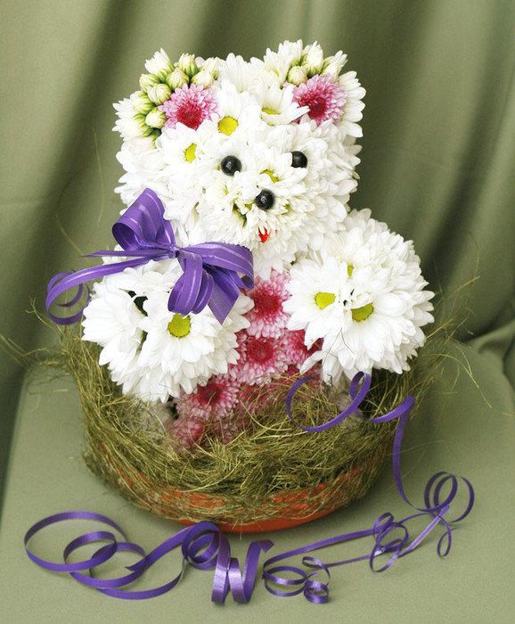 Детские букеты и композиции из цветов