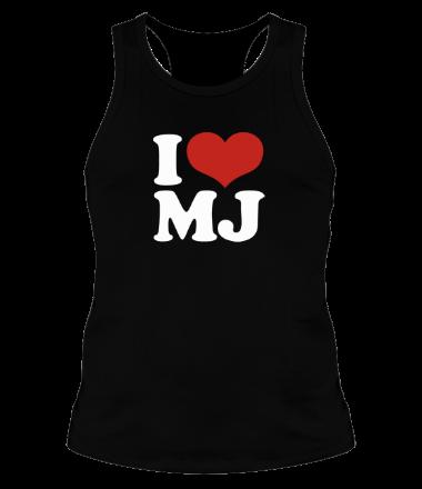 Мужская майка борцовка I Love MJ