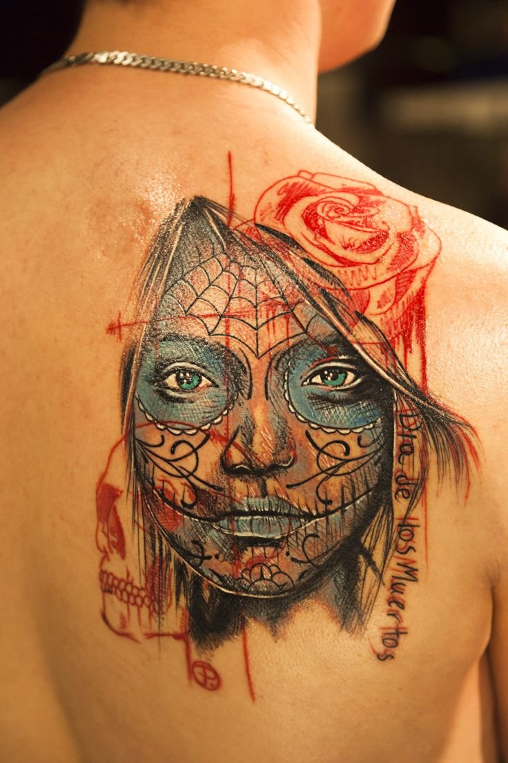 60 day of the dead tattoos you will want to get asap - 736×1104