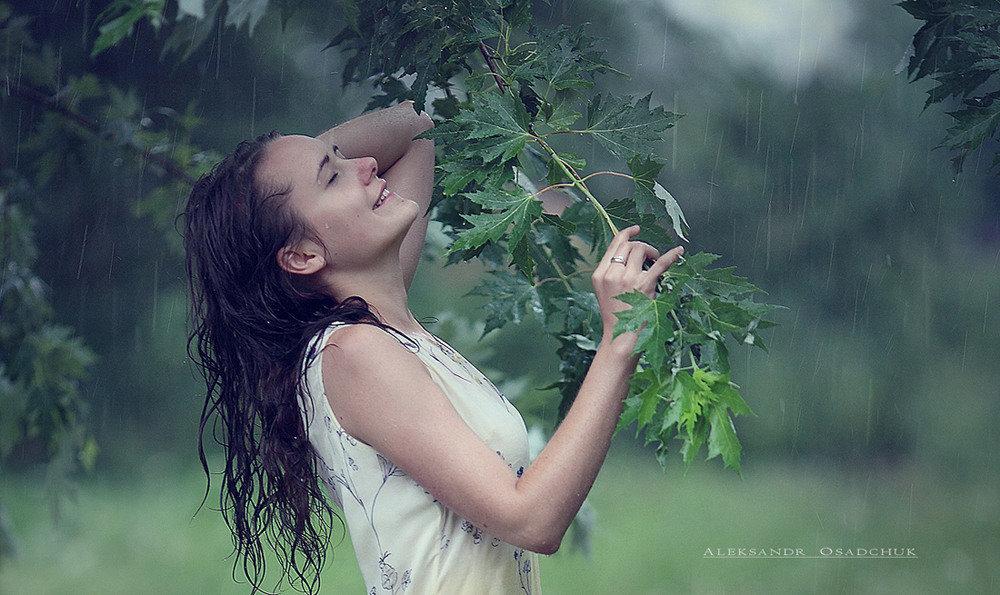 Картинки природа дождь девушка, ирина картинках