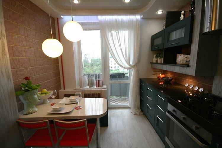 Дизайн кухни 13 кв м с лоджией 9