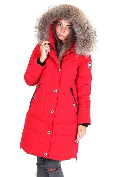 Теплые пуховики женские на зиму канадские