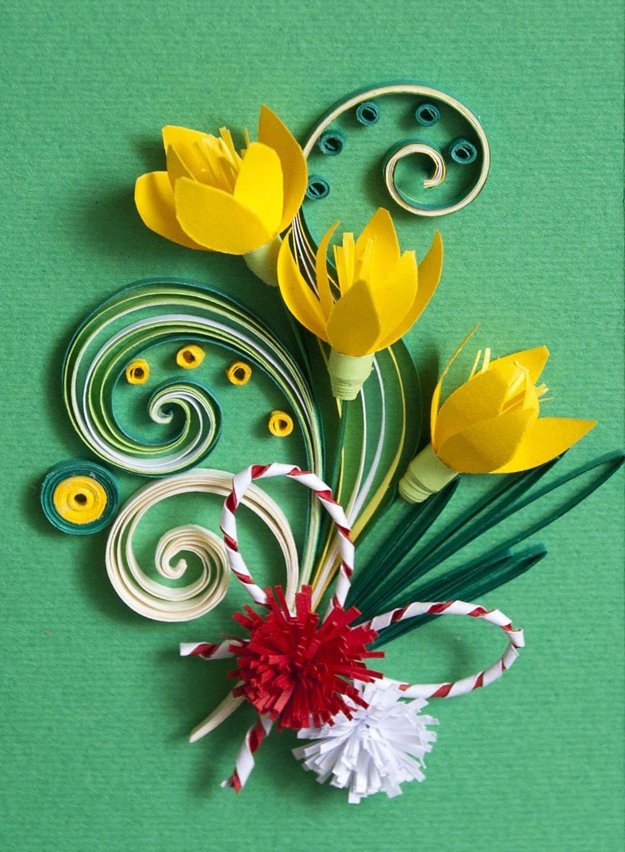 Красивые, оформление открытки цветами из бумаги своими руками