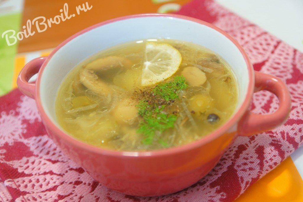 суп солянка рецепт с капустой и грибами