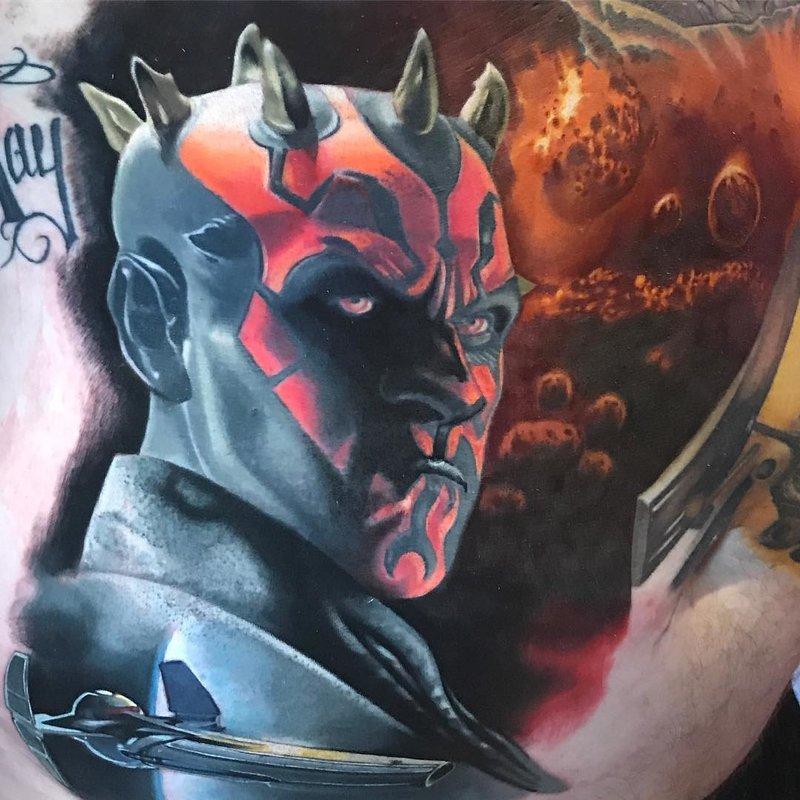 тату с персонажами из Звездных войн