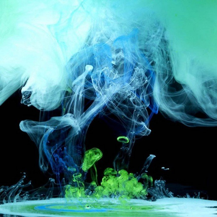 абхазии фотки краски в воде фотографии