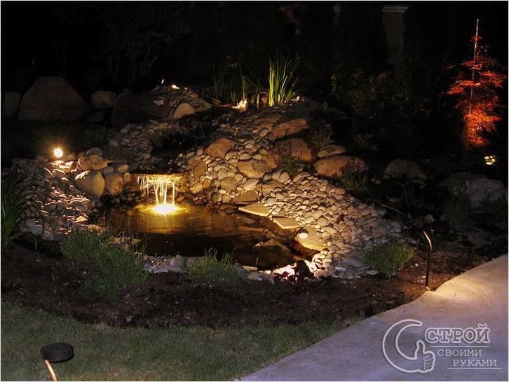 Варианты использования садовой подсветки. Рекомендации по декоративному оформлению сада с помощью подсветки.