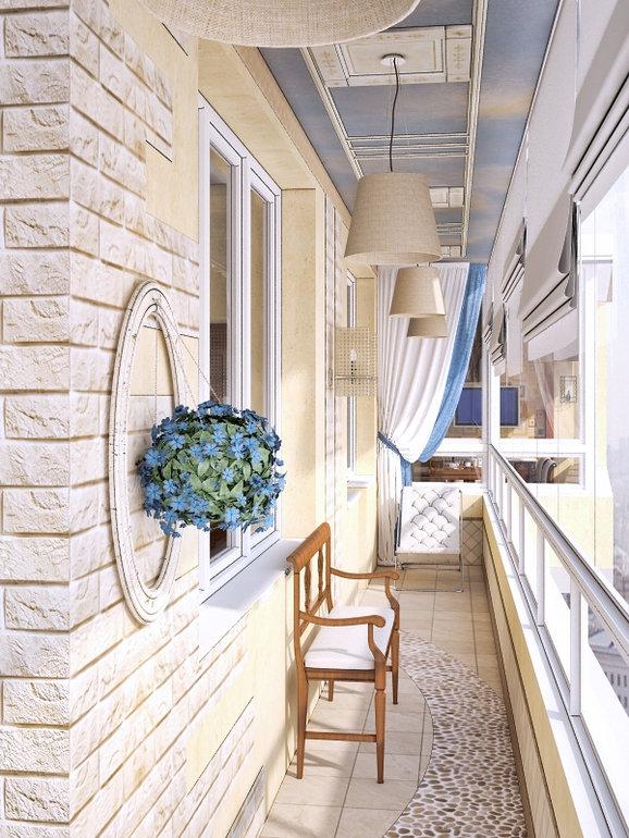 Классический стиль на балконе материалы для отделки балкона .