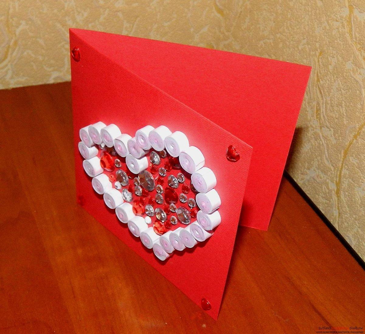 Тобой, как сделать открытку валентинку своими руками из бумаги