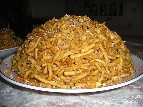 Рецепт приготовления восточной сладости Чак-чак.