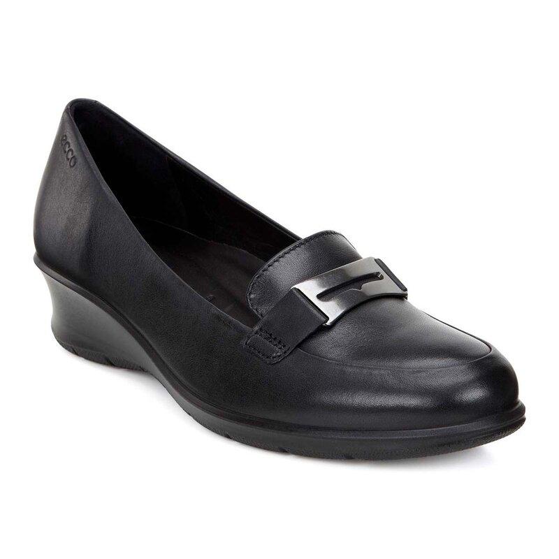 Туфли чёрные на платформе