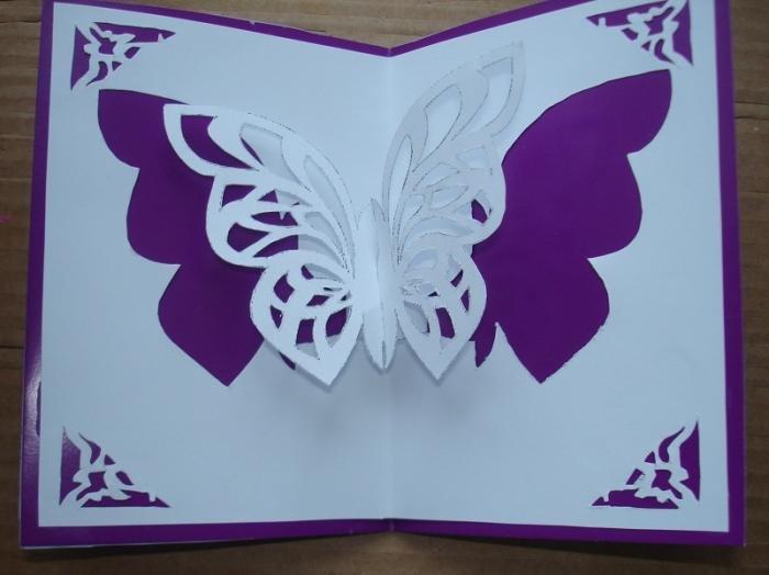 Поздравления, как сделать открытку с бабочкой