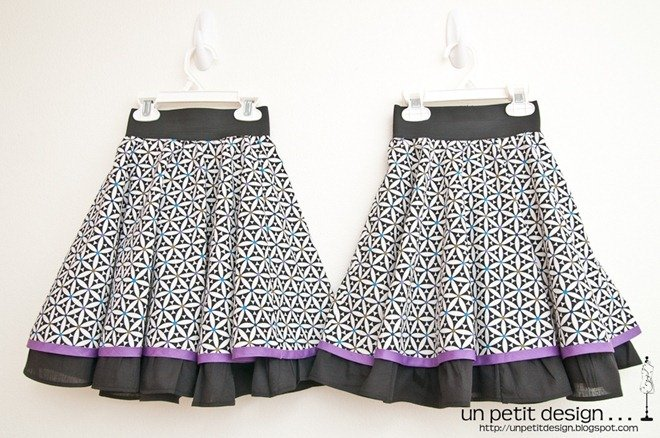 Пошив детской пышной юбки